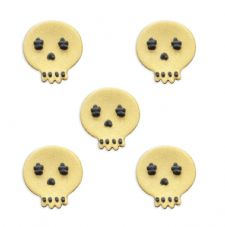 Gold Skulls Sugar Decorations